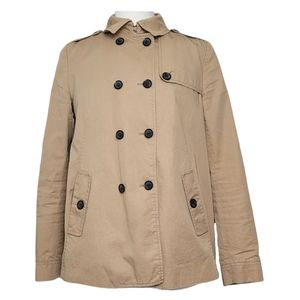 ZARA Trench Coach Double Breasted Epaulets Tan